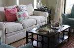 mieszkanie, wystrój wnętrz, kanapa, stół